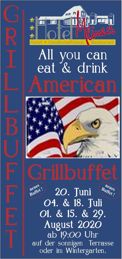 Gutschein all inclusive American Grillbuffet pro Pers.